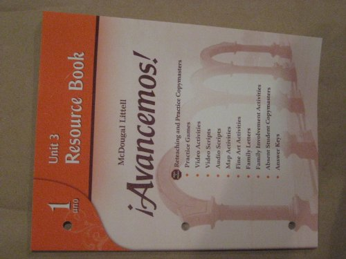 9780618766147: íAvancemos!: Unit Resource Book 3 Level 1 (Spanish Edition)