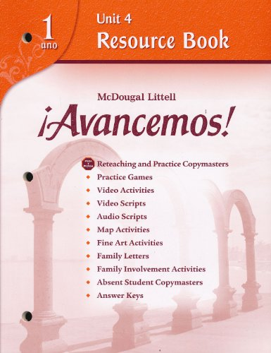 9780618766154: ?Avancemos!: Unit Resource Book 4 Level 1 (Spanish Edition)