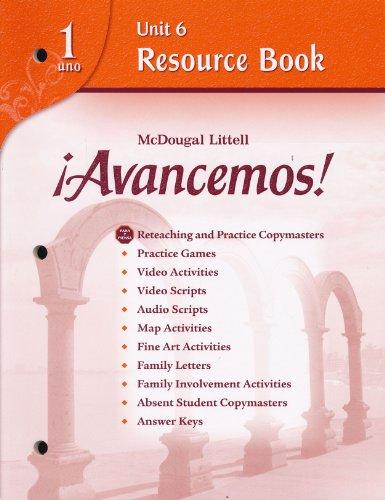 Avancemos!: Unit Resource Book 6 Level 1: MCDOUGAL LITTEL