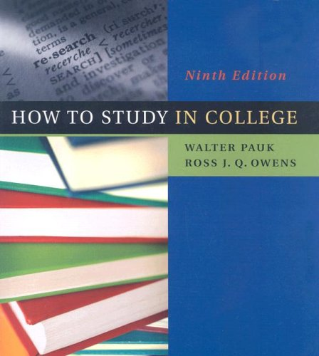 9780618766451: How to Study in College