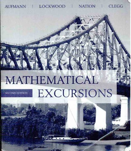 9780618769353: mathematical excursions