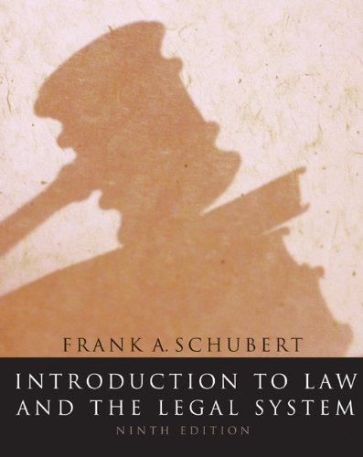 9780618770908: Introduction to Law and the Legal System