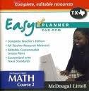 9780618773886: McDougal Littell Math Course 2 Texas: EasyPlanner DVD-ROM Course 2