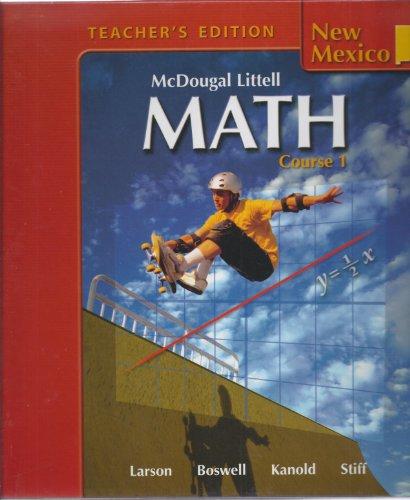 9780618774449: McDougal Littell Math Course 1 New Mexico: Teacher Edition Course 1 2007