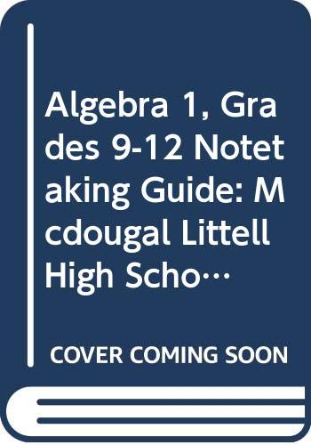 9780618775040: Holt McDougal Larson Algebra 1 Connecticut: Notetaking Guide