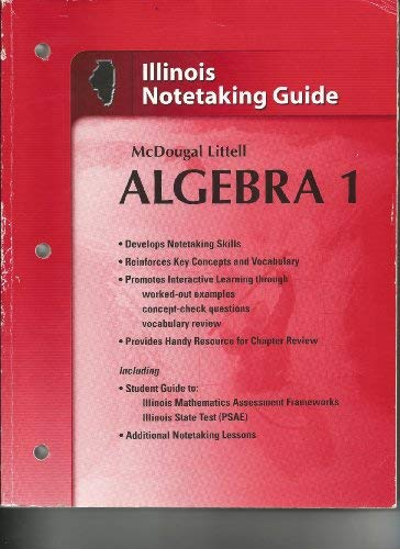 Holt McDougal Larson Algebra 1 Illinois: Notetaking: MCDOUGAL LITTEL