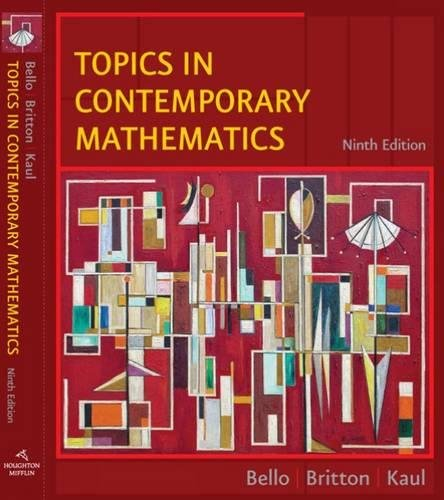 9780618775248: Topics in Contemporary Mathematics