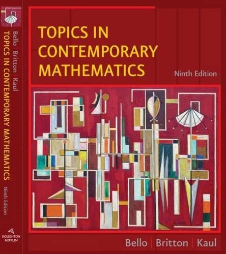 9780618775248: Topics in Contemporary Mathematics