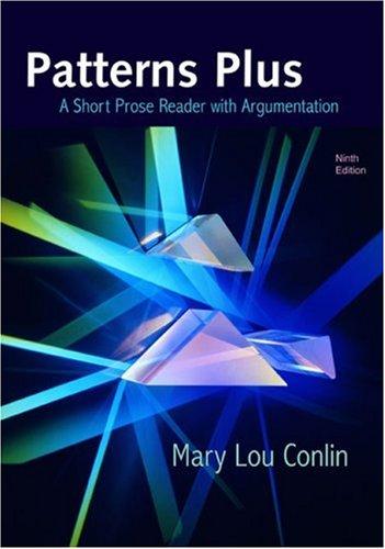 9780618775316: Patterns Plus: A Short Prose Reader with Argumentation