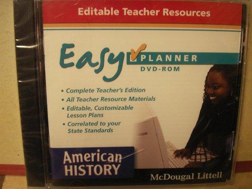 9780618776627: American History Easy Planner: Editable Teacher Resources