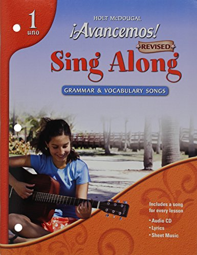 9780618776801: ¡Avancemos!: Sing-Along Grammar & Vocabulary Songs Audio CD with Booklet Levels 1A/1B/1 (Spanish Edition)