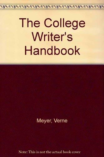 9780618776955: The College Writer's Handbook