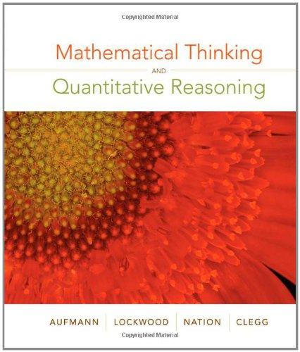 9780618777372: Mathematical Thinking and Quantitative Reasoning
