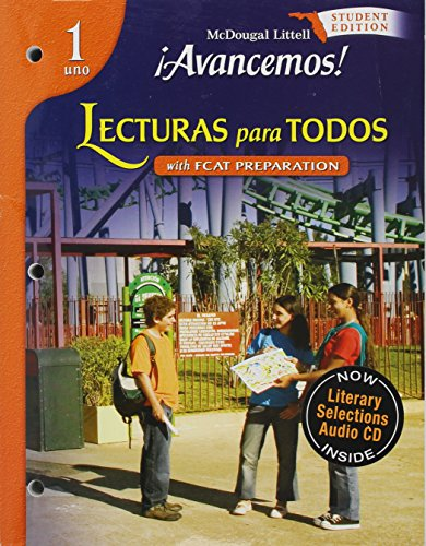 9780618782123: íAvancemos! Florida: Lecturas para todos (IAR) (Student) w/ Audio CD Level 1 (Spanish Edition)