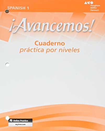 9780618782185: ¡Avancemos!: Cuaderno: Practica por niveles (Student Workbook) with Review Bookmarks Level 1 (Spanish Edition)
