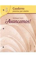 9780618782192: ¡Avancemos!: Cuaderno: Practica por niveles (Student Workbook) with Review Bookmarks Level 2 (Spanish Edition)