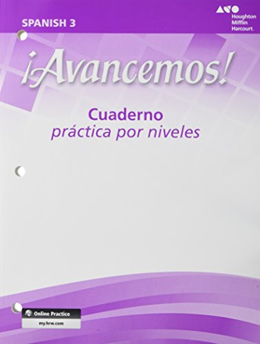 9780618782208: ¡Avancemos!: Cuaderno: Practica por niveles (Student Workbook) with Review Bookmarks Level 3 (Spanish Edition)