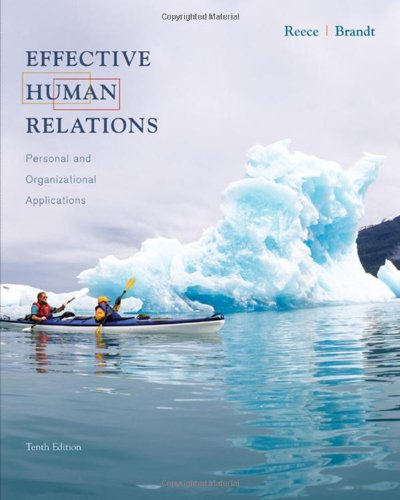 9780618783274: Effective Human Relations: Personal and Organizational Applications