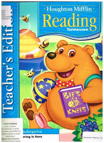 9780618784189: Houghton Mifflin Reading Tennessee: Teacher's Edition Grade K, Theme 9 Spring is Here