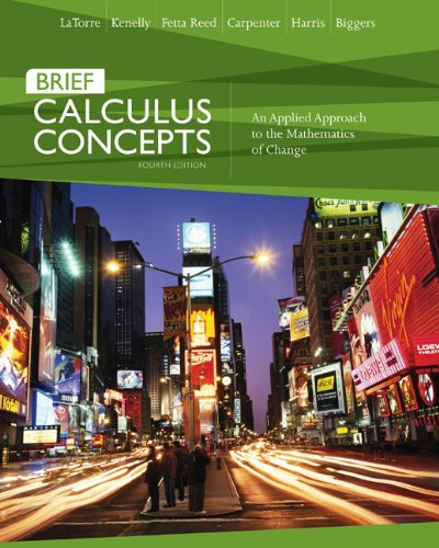 9780618789825: Calculus Concepts: An Applied Approach to the Mathematics of Change