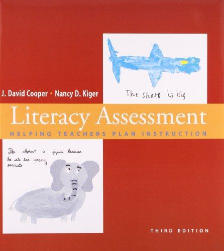9780618794881: Literacy Assessment: Helping Teachers Plan Instruction