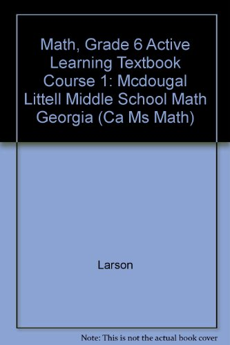 9780618800575: McDougal Littell Math Course 1 Georgia: Active Learning Textbook (Student) Course 1