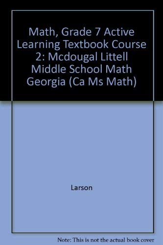 9780618800582: McDougal Littell Math Course 2 Georgia: Active Learning Textbook (Student) Course 2