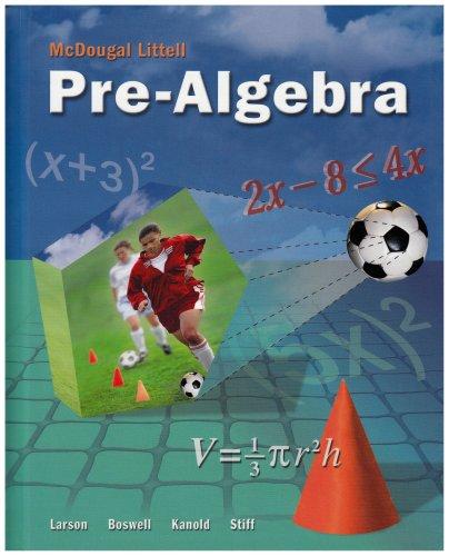 9780618800766: McDougal Littell Pre-Algebra: Student Edition 2008