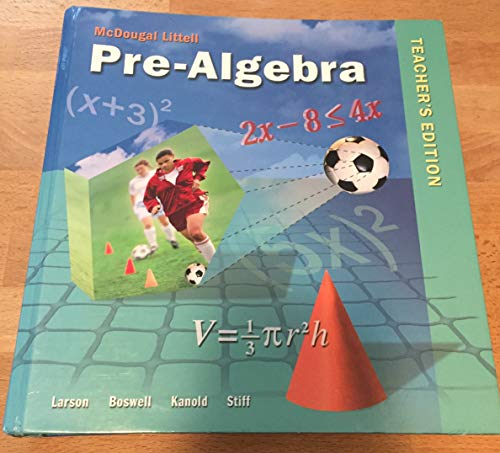 9780618800773: McDougal Littell Pre-Algebra, Teacher's Edition