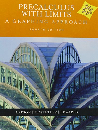 9780618801244: Pre-calculus With Limits: A Graphing Approach