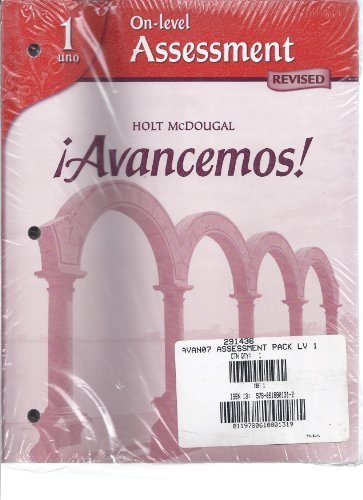9780618801312: ?Avancemos!: Differentiated Assessment Program Levels 1A/1B/1 (Spanish Edition)
