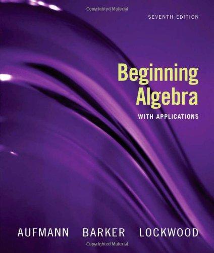 9780618803590: Beginning Algebra with Applications