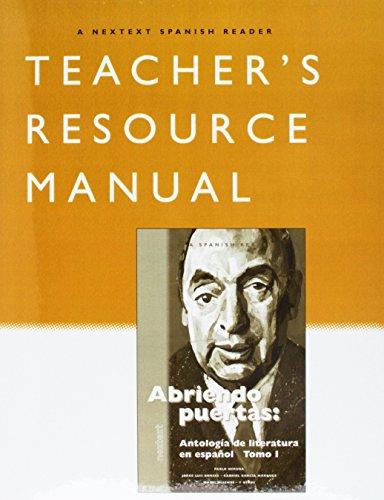 9780618803774: McDougal Littell Nextext: Abriendo puertas Literatura Teacher Resource Manual Volumes 1-2 Package