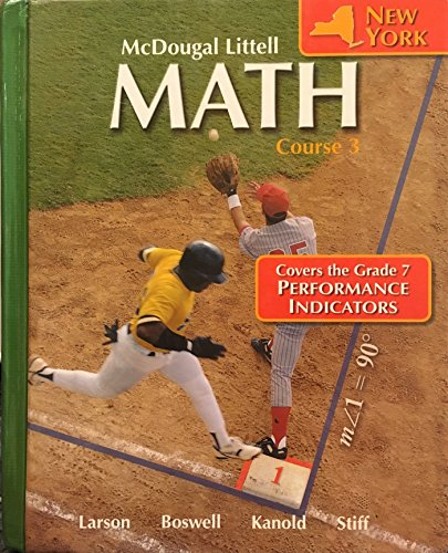 McDougal Littell Math, Grade 8, Course 3, Student Edition: LITTEL, MCDOUGAL