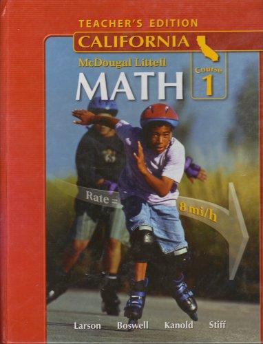 9780618807079: McDougal Littell Middle School Math California: Teacher's Edition Course 1 2008
