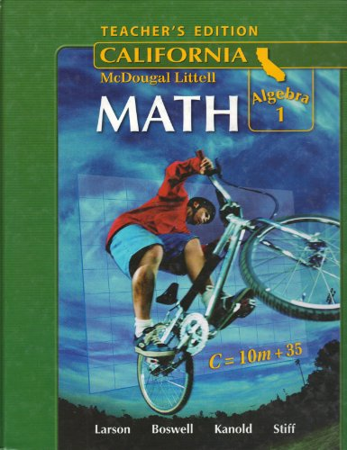 9780618807093: McDougal Littell Middle School Math California: Teacher's Edition Algebra 1 2008