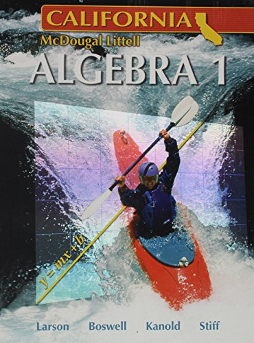 9780618811762: Holt McDougal Larson Algebra 1 California: Student Edition 2007