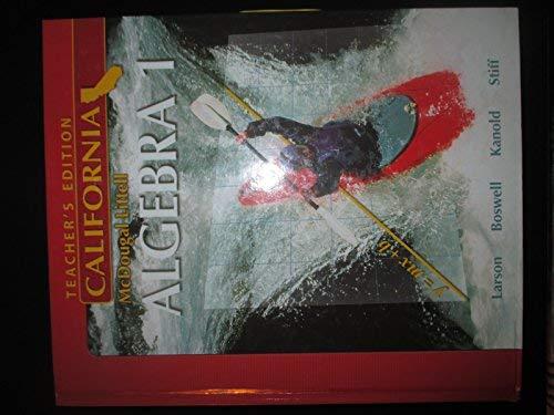 9780618811793: McDougal Littell Algebra 1 California: Teacher's Edition 2007