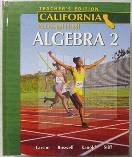 9780618811823: Holt McDougal Larson Algebra 2 California: Teacher's Edition 2007