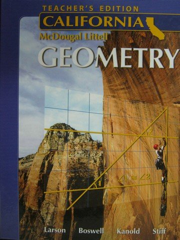9780618811915: Holt McDougal Larson Geometry California: Teacher's Edition 2007