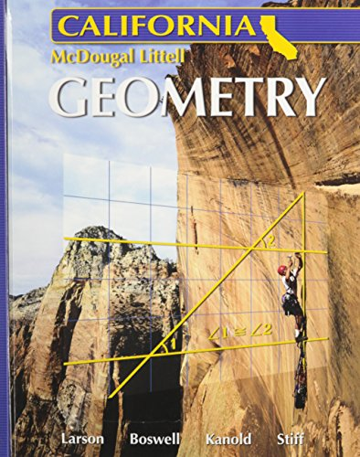 9780618811946: Holt McDougal Larson Geometry California: Student Edition 2007