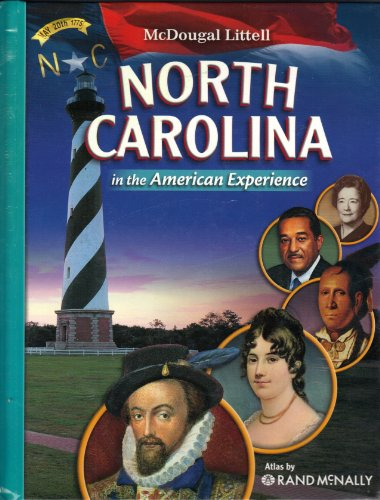 9780618815203: McDougal Littell North Carolina American Experience North Carolina: Student Edition Grade 8 2008