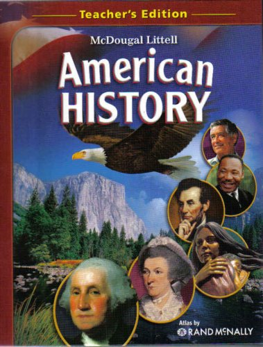 9780618815227: McDougal Littell American History, Teacher's Edition