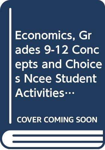 9780618815265: Economics: Concepts and Choices: NCEE Student Activities