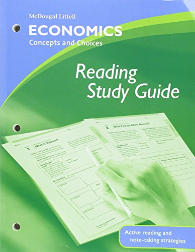 9780618815289: Economics: Concepts and Choices: Reading Study Guide