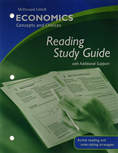 9780618815296: Economics: Concepts and Choices: Reading Study Guide with Additional Support