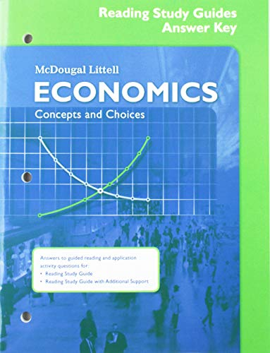 9780618815302: Economics: Concepts and Choices: Reading Study Guide Answer Key