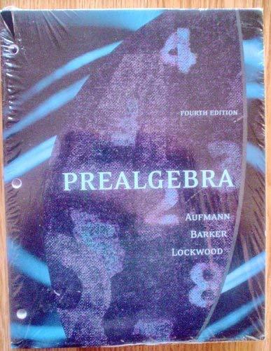 9780618816231: Prealgebra Fourth Edition