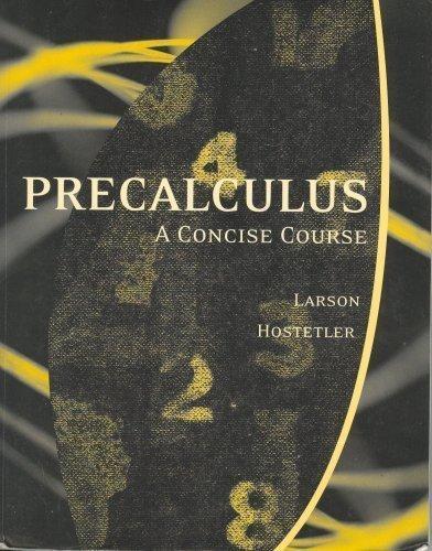 9780618818433: Title: PRECALCULUS,CONCISE COURSE >CU
