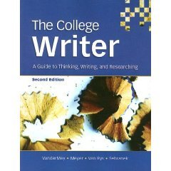 9780618819232: The College Writer: A Guide to Thinking, Writing, and Researching